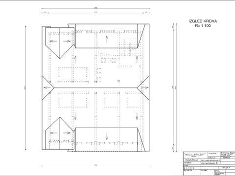 plan apartmani kopaonik L izgled krova