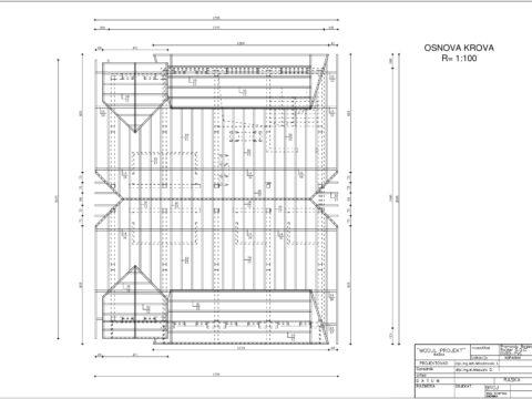 plan apartmani kopaonik LJ Osnova krova