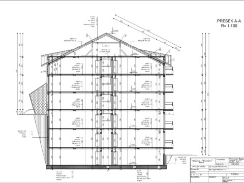 plan apartmani kopaonik M presek