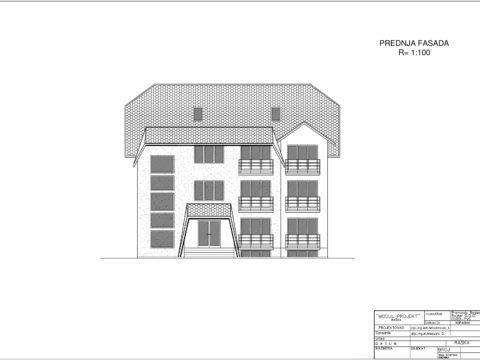 plan apartmani kopaonik Prednja fasada