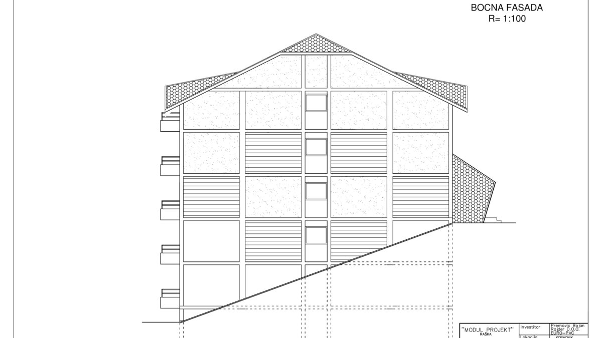 plan apartmani kopaonik O bocna fasada