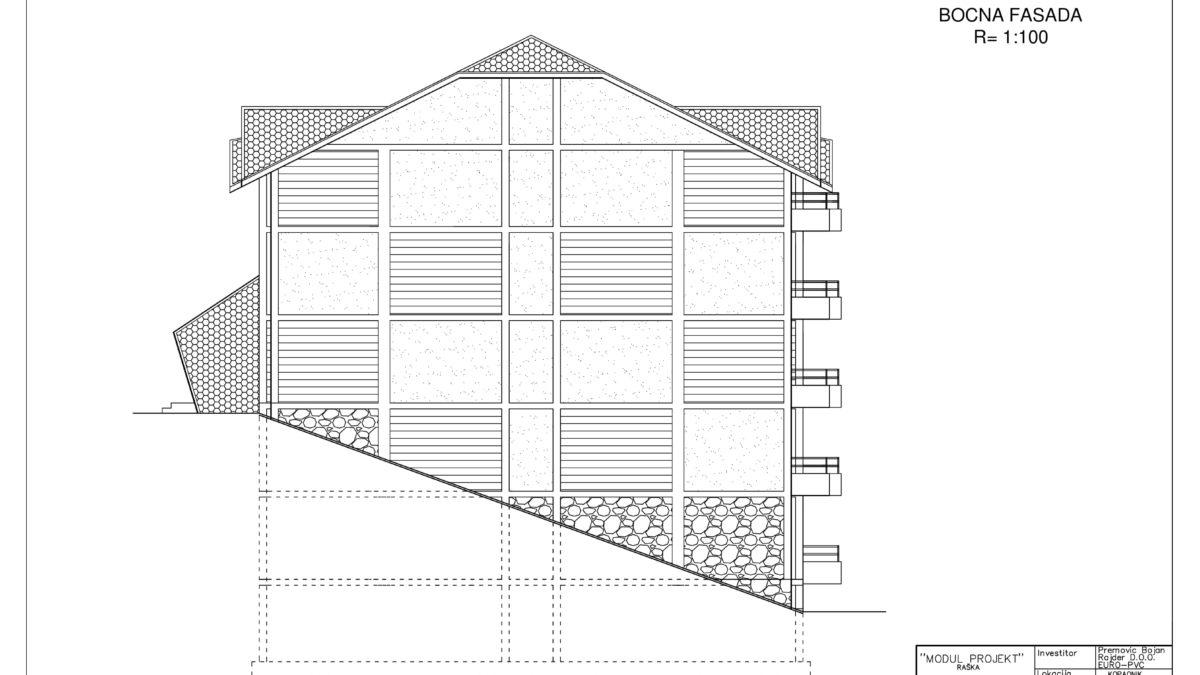 plan apartmani kopaonik P bocna fasada